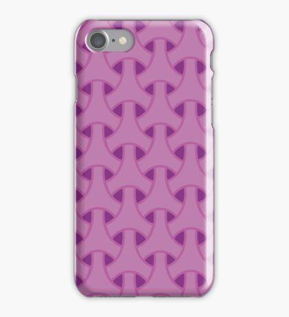 Pink geometric pattern iPhone Case/Skin