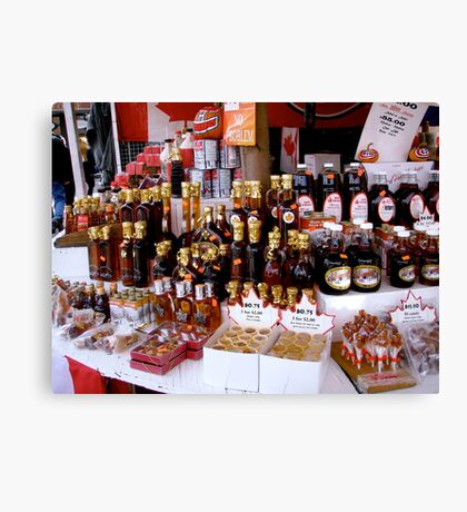 Maple Syrup Stall Canvas Print