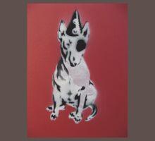 Red Graffiti English Bull Terrier One Piece - Short Sleeve