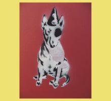 Red Graffiti English Bull Terrier Baby Tee