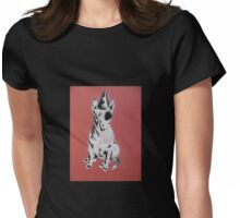 Red Graffiti English Bull Terrier Womens Fitted T-Shirt