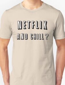 Netflix and Chill Red Unisex T-Shirt