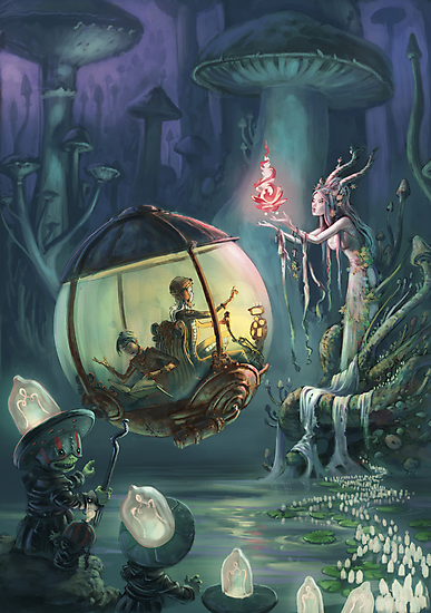The Mushroom Fairy by Emil Landgreen