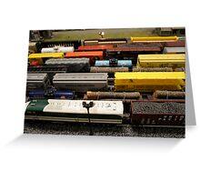 Nostalgic Toy Trains Greeting Card