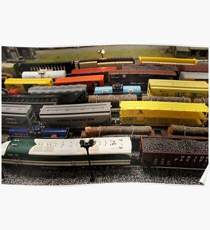 Nostalgic Toy Trains Poster
