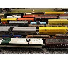 Nostalgic Toy Trains Photographic Print