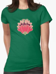 flat flowers Womens Fitted T-Shirt