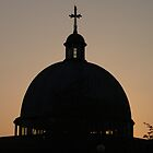 Church at sunset, Milton Keynes by Wintermute69