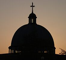 Church at sunset, Milton Keynes by Wintermute69