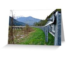 Bridge in the Alps Greeting Card