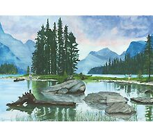 Spirit Island, Lake Maligne by Ronald Wilkie