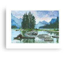 Spirit Island, Lake Maligne Canvas Print