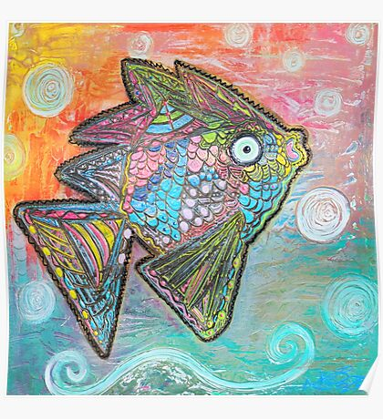 Psychedelic Fish Poster