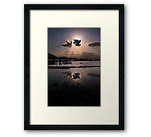 Elounda Salt lakes  Framed Print