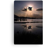 Elounda Salt lakes  Canvas Print