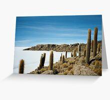 Ancient Cactus - Salar de Uyuni, Bolivia Greeting Card