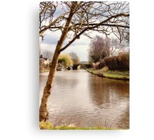Leeds and Liverpool Canal Canvas Print