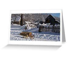Winter wheelbarrow 2 Greeting Card