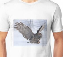 The plight of the great grey owl Unisex T-Shirt