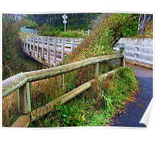 Oregon Fence....Cape Perpetua, Yachats, Oregon Poster