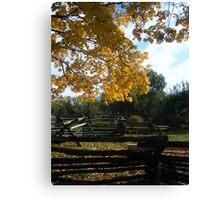 Landis Valley Fall Canvas Print