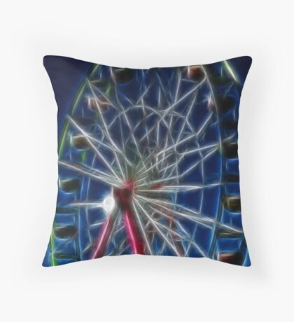 State Ferris Wheel Throw Pillow