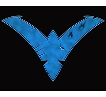 Nightwing Damaged (Blue) Photographic Print
