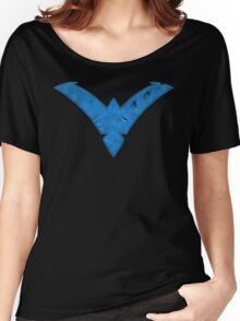Nightwing Damaged (Blue) Women's Relaxed Fit T-Shirt
