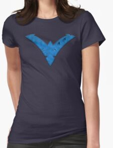 Nightwing Damaged (Blue) Womens Fitted T-Shirt