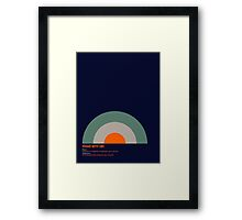 Modernist Target Framed Print