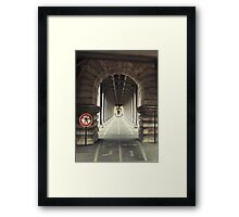 Under the Subway Framed Print
