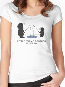 Little Eskimo Brother Program Women's Fitted Scoop T-Shirt