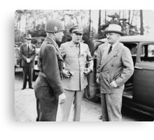 Truman, Eisenhower, And Hickey -- WWII  Canvas Print