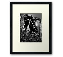 THIS HOUSE SITS ALONE... Framed Print