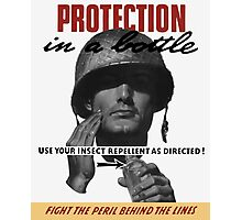 Use Your Insect Repellent As Directed! -- WW2 Photographic Print