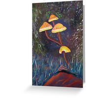 Hiding among the toadstools Greeting Card