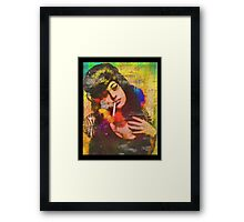 Dressed as Amy Winehouse For Halloween  Framed Print