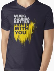Music Sounds Better With You Mens V-Neck T-Shirt