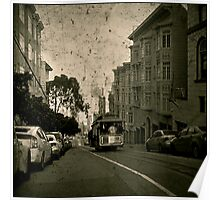 Washington Street Cable Car Poster