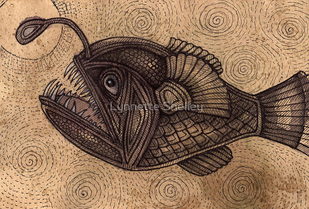 Black Devilfish (or The Angler Fish) by Lynnette Shelley