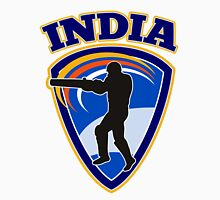 cricket player batsman batting India Unisex T-Shirt