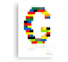 """G"" Canvas Print"