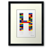 """""""H"""" Framed Print"""