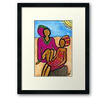 Sun Sistahs Framed Print