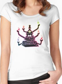 Six-Armed Apocalypse Bill Cipher - Color Women's Fitted Scoop T-Shirt