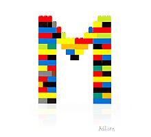 """M"" Photographic Print"