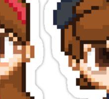 Mystery Twins Pixels Sticker