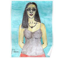 Colored Pencil Self-Portrait Poster