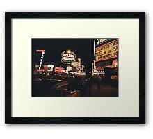 Old Vegas Framed Print