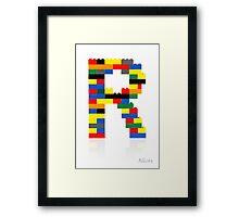 """""""R"""" Framed Print"""